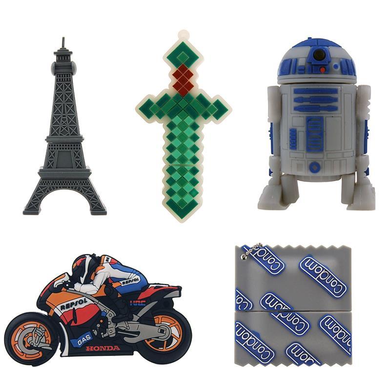 Free shipping Star Wars Creative R2D2 Robot model 8GB 16GB 32GB USB 2.0 Flash Pen Drive Memory Disk 0Stick usb flash drive(China (Mainland))