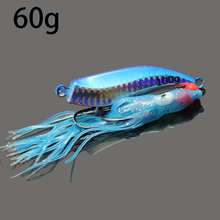 2016 new jig lures 60g jigs for boat deep sea fishing proven lures bait lead head octopus jigs sea fishing accessories