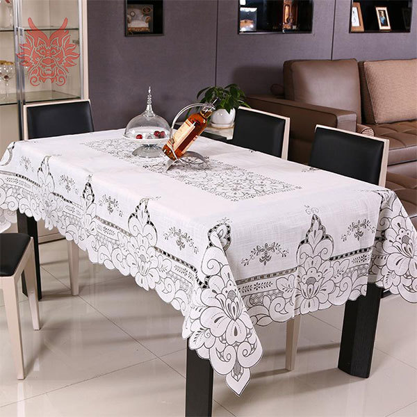 Pastoral style hot sale Table Cloth Pierced Dining Table Cover Home Textile white table runner SP1503(China (Mainland))