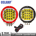 Oslamp 2x90W 7 CREE Chips LED Driving Light DRL Headlight 12V 24V Fog Lamp 4WD Trucks