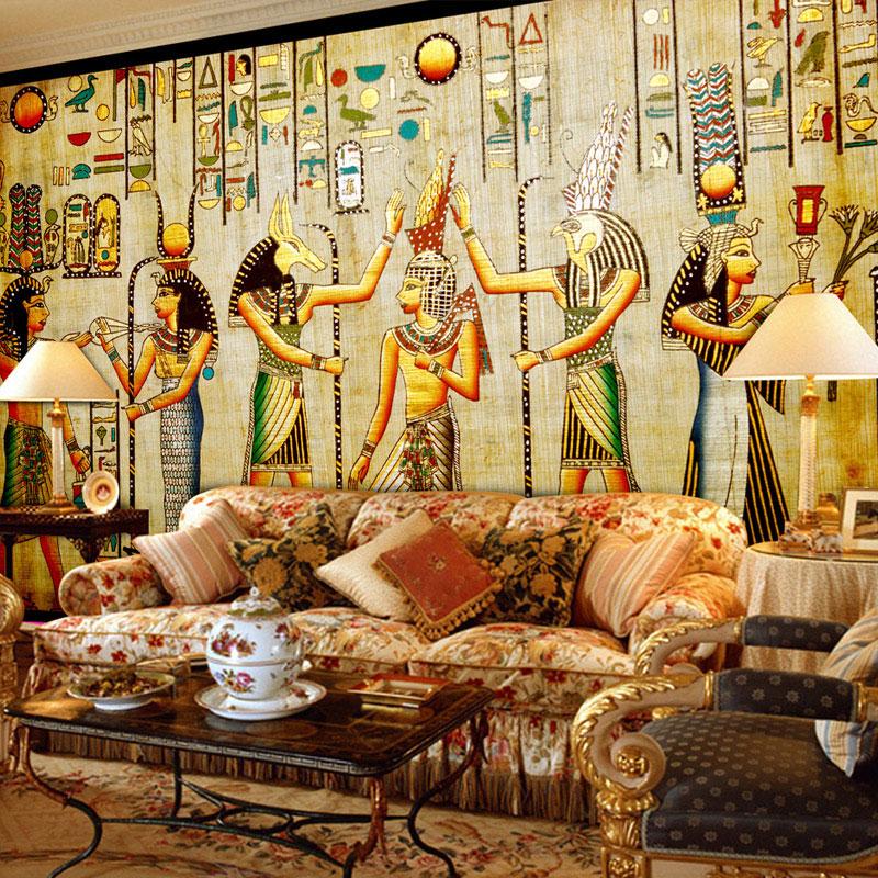 Achetez en gros gyptien peintures murales en ligne des for Film marocain chambre 13 en ligne