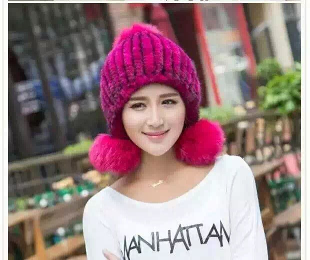 Скидки на 2016 новых лиса норки мяч декоративные моды hat