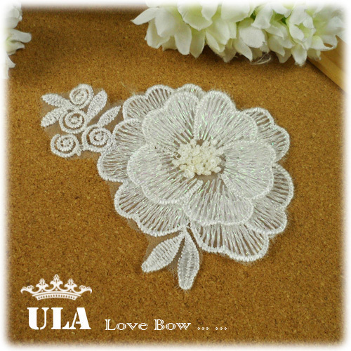 Wholesale lace applique flower designs DIY Decoration Lace Fabric Paste Decoraive Cloth Paste lace appliques 40pcs/lot