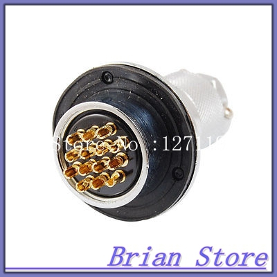 14-Pin Metal Aviation Circular Connector Adapter AC 250V 10A<br><br>Aliexpress