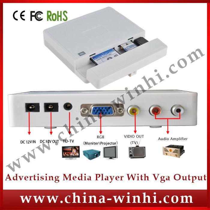 Plastic shell shopping USB SD CF programming display multimedia mini video player box Guaranteed 100% Manufacturer Hot Products(China (Mainland))