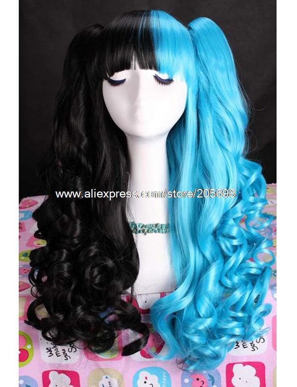 Гаджет  Blue and Black Cosplay Wig/Lolita Wig anime halloween christmas Free Shipping None Изготовление под заказ