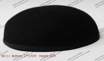 New Style 17*17 cm 100% Wool Anomalistic Fascinator Base Hat Millinery Form 10pcs/lot