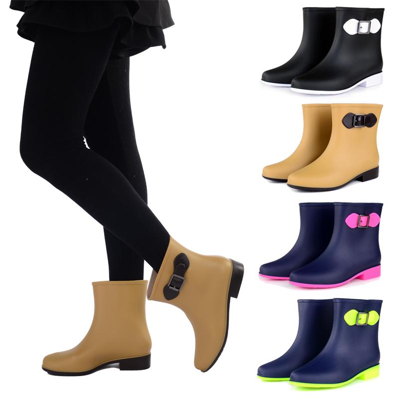 Women Rain Days Shoes Rubber Ankle Short Rain Boots Garden Shoes Waterproof Shoes(China (Mainland))