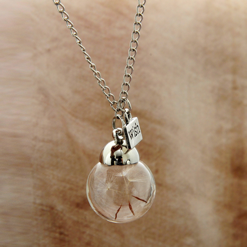 buy dandelion wish necklace best gift