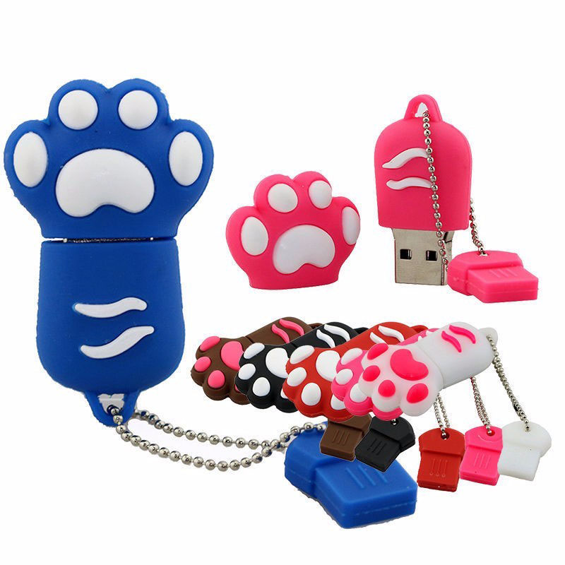 Cartoon Paws USB Flash Drive 16GB Pendrive 32GB Flash Stick Pen Drive 2TB USB 2.0 Memory Stick Cle USB 4GB 8GB U Disk 64GB(China (Mainland))