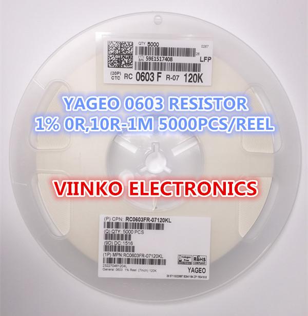 Бесплатная доставка для полных 1% 0603 287 К 287 К 1 / 10 Вт SMD чип резистор 5000 шт. / reel YAGEO новый оригинальный чип исправлена резистор dt 287