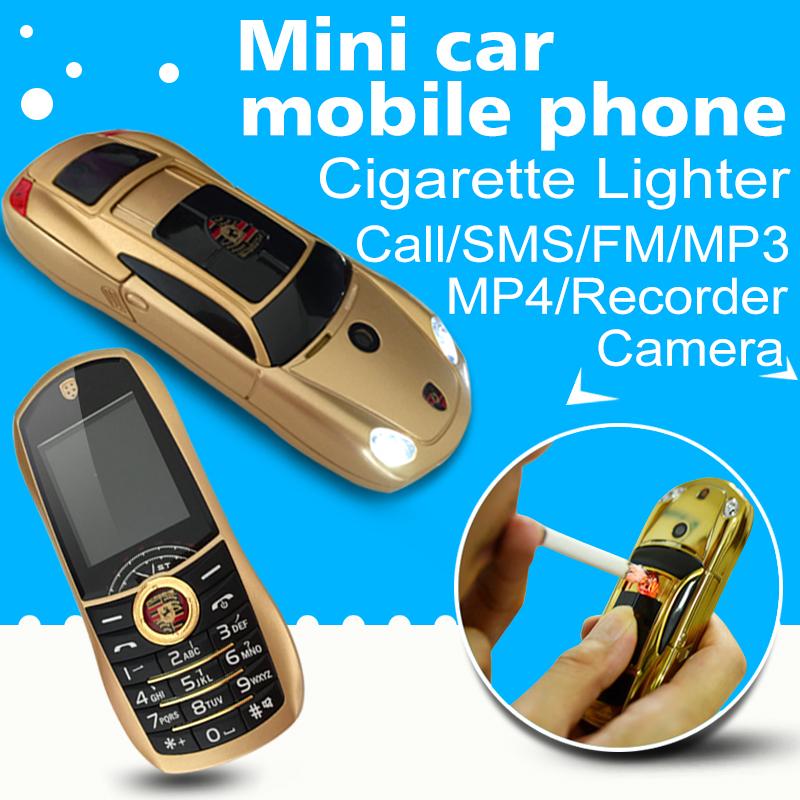 15 bar small size sport cool supercar lighter cigarette FM flashlight car model cell mini mobile phone cellphone P499(China (Mainland))