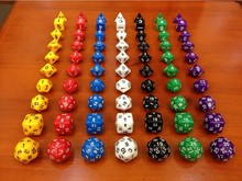 10pcs/set Dungeons and Dragons Game Multi-sided Solid Color Game Dice D4 D6 D8 D10 D12 D20 D24 D30 Dice Set Drop Shipping(China (Mainland))