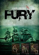 A DAVID AYER FILM FURY (5 Figures) 1/35 Resin Model Kit Free Shipping(China (Mainland))