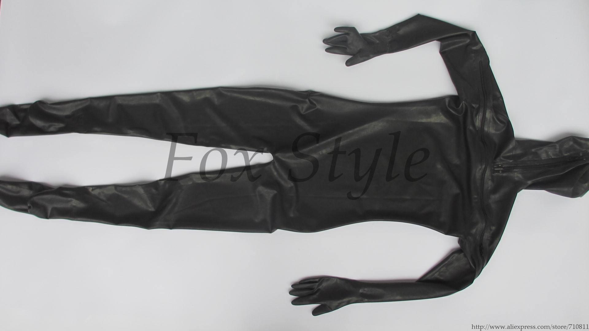 Полный костюм боди латексная zentai резиновая одежда с молнией сзади грудь молния aeProduct.getSubject()