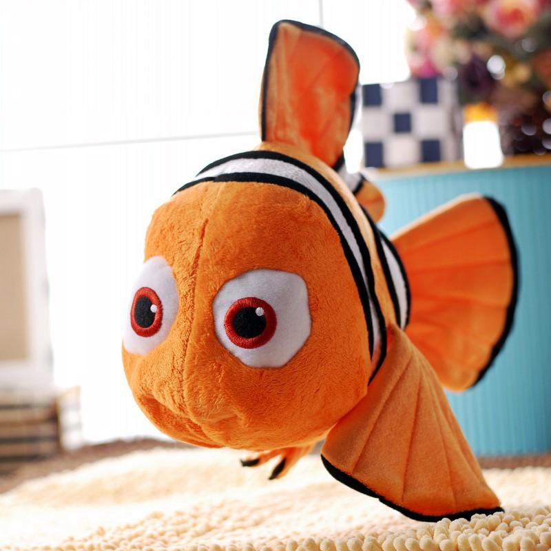 "1pcs 9"" 25cm Finding Nemo Movie Cute Clown Fish Stuffed Animal Soft Plush Toys Kids Children Baby Birthday Party Gifts Dolls(China (Mainland))"