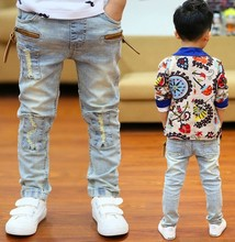 High quality  2015 Spring and Autumn kids pants boys  baby Stretch joker jeans children jeans(China (Mainland))