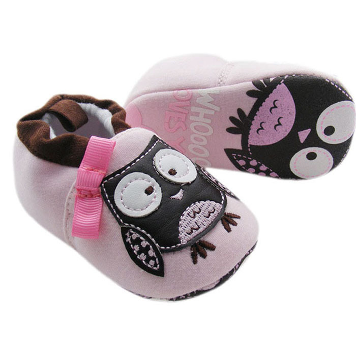 2015 New Arrival Sale Shoes Baby Girl Jecksion Cute Light Baby Girls Lovely Owl Shoes Bow First Walker Cotton Prewalker Toddler(China (Mainland))