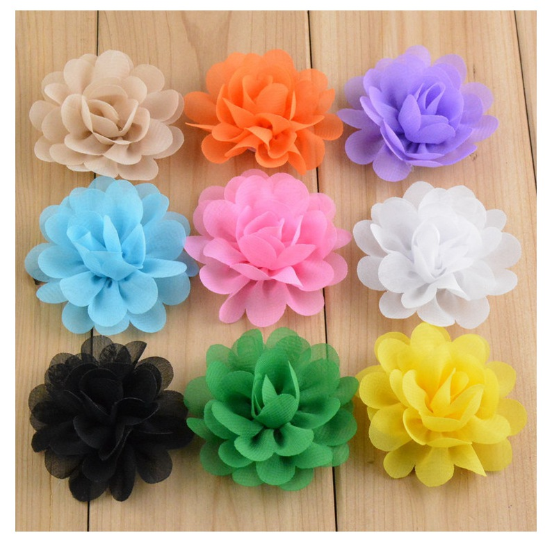 100pcs 2 inch chiffon flowers for brooch/ hair clip/headband free shipping B0002L <br><br>Aliexpress