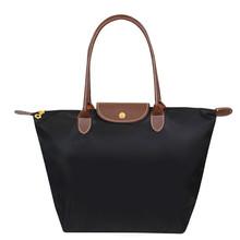 Горячая дизайнерский бренд нейлон сумки женщины шампанское мешок нейлон бродяги с кожаными длинная ручка водонепроницаемый складной плечо сумка