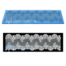 Flexible 3D silicone lace mat for the cake border decoration(China (Mainland))