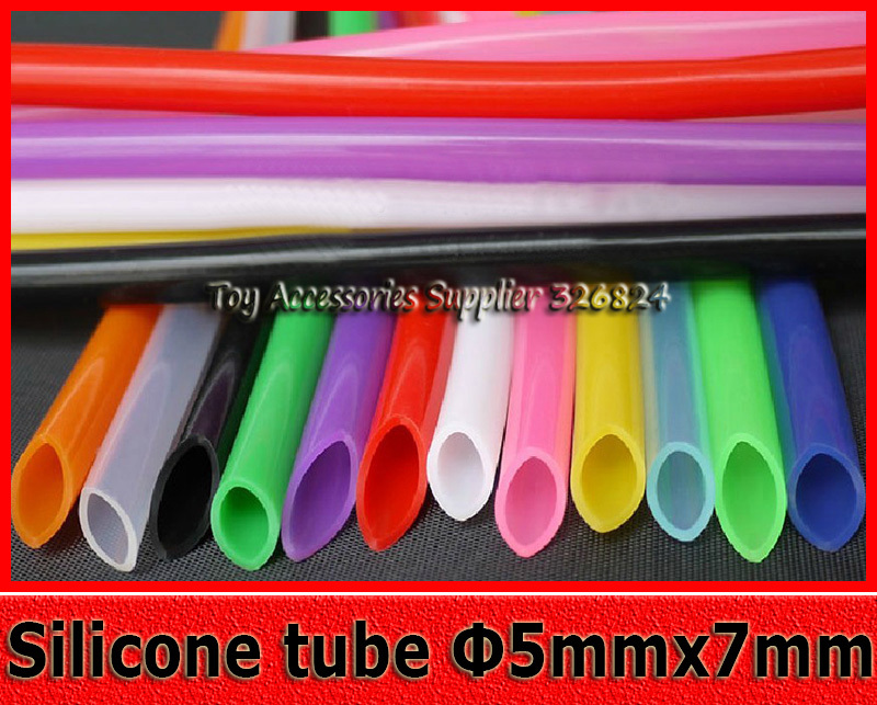 Multicolor 5mmX7mm Silicone tube /hose /pipe/tubing food grade non-toxic and tasteless thermostable catheter silicone hose 10 M(China (Mainland))