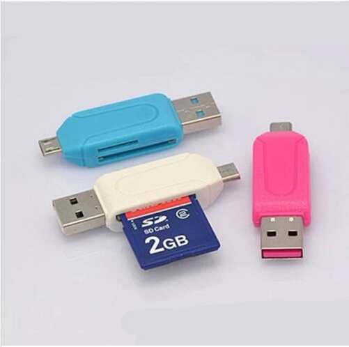 Free Shipping 1pc Universal Card Reader Mobile phone PC card reader Micro USB OTG Card Reader