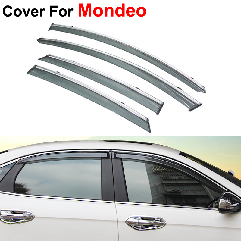 4pcs/lot Awning Shelters Vent Rain Sun Shield Window Visors For Ford Mondeo Fusion 5 2013 2014 2015 Covers Car Stylingg Guard<br><br>Aliexpress