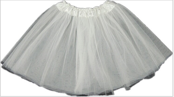 Women Elastic Tulle Dress Solid Color Mini Tutu 3 Layer Bubble Skirt Evening skirt Free shipping