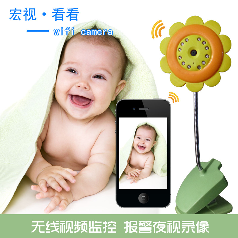 2015 New WiFi Security Baby Kid Monitor Camera Smartphone Audio Night Vision Wireless Hot Sale Free Shipping