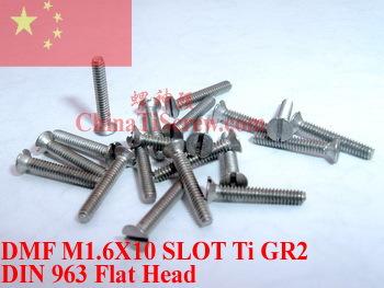 Titanium screw M1.6X10 DIN 963<br><br>Aliexpress