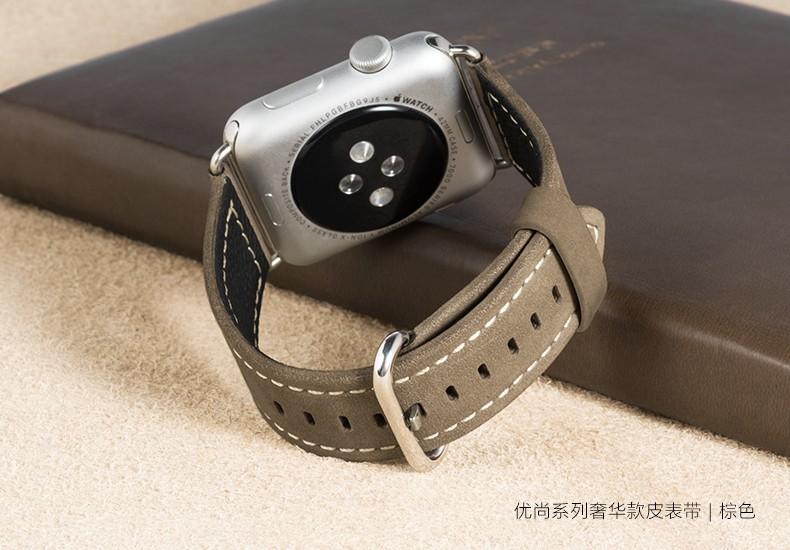 Натуральная Кожа Ремешки Для Наручных Часов Для Apple Watch 42 мм 38 мм Сделано 100% Верхний Слой Кожи Оригинальный Классический Пряжки и Металла Aapters