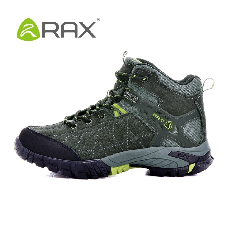 RAX Genuine leather men climbing hiking shoes high top outdoor walking shoes slip resistant hiking boots B934<br><br>Aliexpress