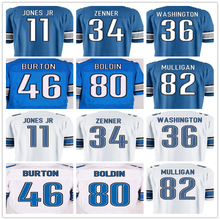High Quality Mens #11 Marvin Jones Jr 34 Zach Zenner 36 Dwayne Washington 46 Michael Burton 80 Anquan Boldin 82 Matthew Mulligan(China (Mainland))