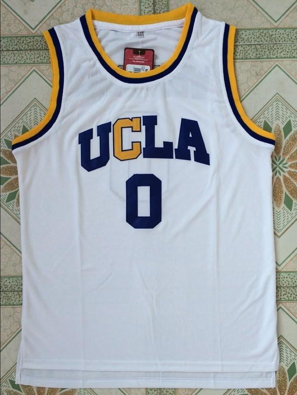 2017 AKGGDD bran Mens Cheap Throwback Basketball Jerseys #0 Russell Westbrook Jersey UCLA Bruins Retro Stitched Embroidery Shirt(China (Mainland))
