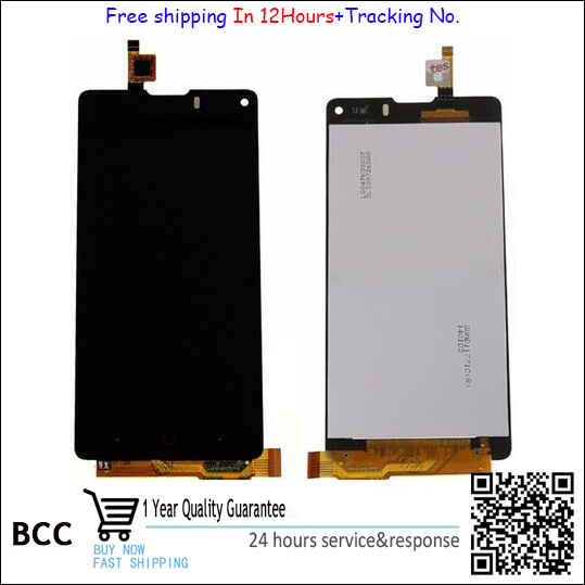 Lcd display+Touch screen digitizer Touch Panel For ZTE Nubia Z5S mini NX403A Touchscreen black free shipping,Test ok+Tracking No