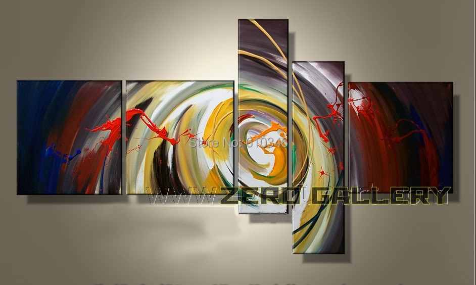 Discount large abstract colorful oil painting decorative for Peinture decorative