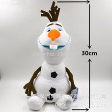 Olaf Plush Doll kids toys 30cm Frozenned olaf  PP Cotton plush toys Good Toys For kids' gift Cheap Olaf Plush Doll(China (Mainland))