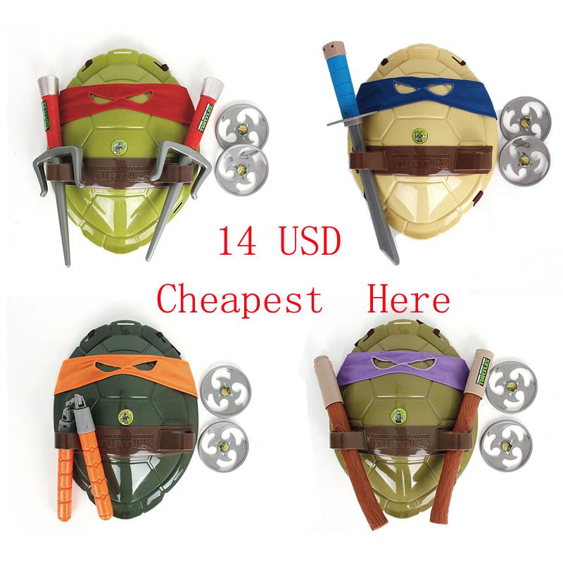 2015 New TMNT Teenage Mutant Ninja Turtles Weapons Toys TMNT Turtles Armor Shield Toy Movie Kids Toys Brinquedos Birthday Gifts(China (Mainland))