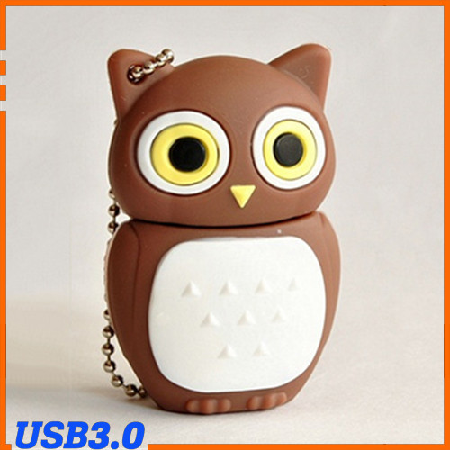 Cartoon Owl USB 3.0 Flash Memory stick Thumb Drive Pendrive 8gb 16gb 32gb 64gb free shipping(China (Mainland))