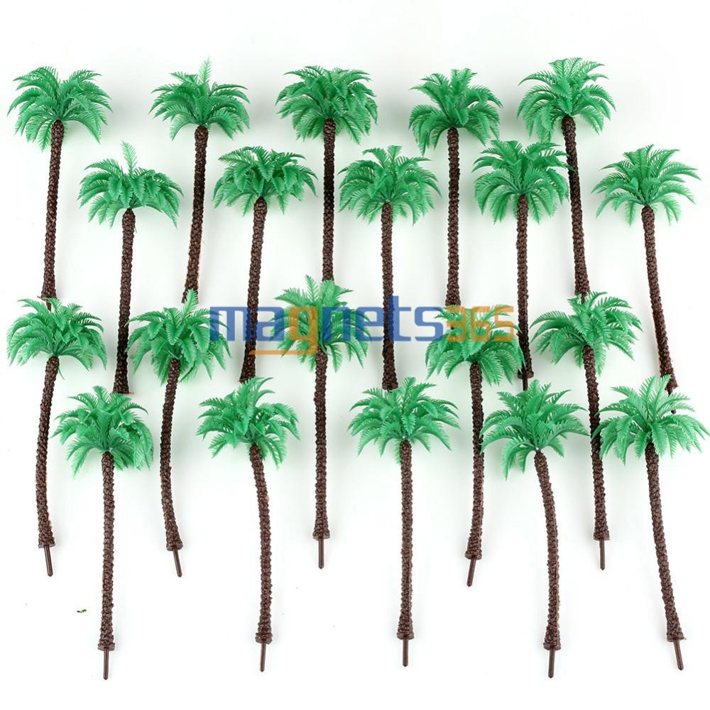 Гаджет  20pcs Model Train Coconut Palm Trees Beach Street Diorama Layout Scale HO 13CM None Строительство и Недвижимость