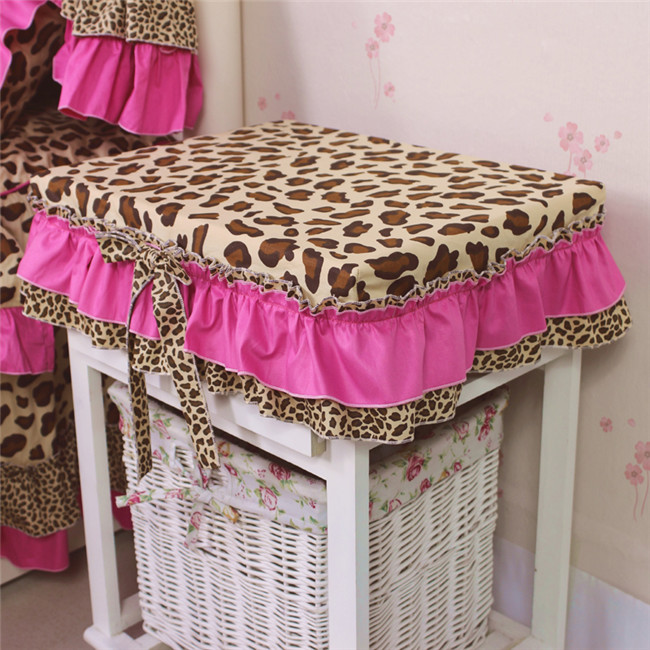 YG Korean Pastoral cotton bedside table cover cloth twill Leopard black bow table cloth tablecloth table bedroom Home Textile(China (Mainland))