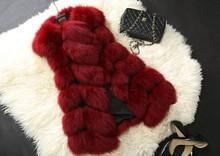 New Arrival 2015 Winter Warm Fsahion Long Women Faux Fur Vest Faux Fur Coat Fox Fur Vest Colete Feminino Plus size 4XL(China (Mainland))