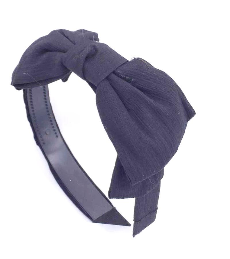 women girls bohemian black chiffon big double knotted bow headband hairband fashion vintage hair accessories(China (Mainland))