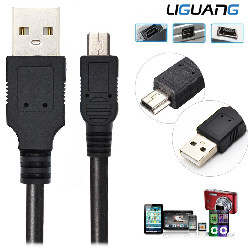 LIGUANG Mini USB Cable Mini USB to USB Fast Data Charger Cable for Cellular Phones MP3 MP4 Player Tablets GPS Digital Camera HDD(China (Mainland))