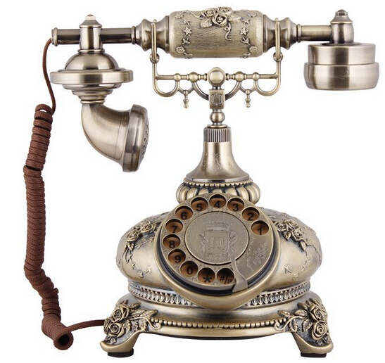 newest design and sell well very beautiufl resin antique corded telephone for crafts or gifts(China (Mainland))