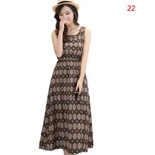 Women Summer Dress 2015 New Arrive Print Sleeveless Casual Dresses Plus Size Women's Clothing Vestido S-XXL(China (Mainland))