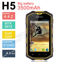 2014 Hummer H5 3G Smartphone 4.0″ Capacitive Screen IP68 Waterproof Shockproof Dustproof 512M RAM 4G ROM GPS Polish Czech Greek