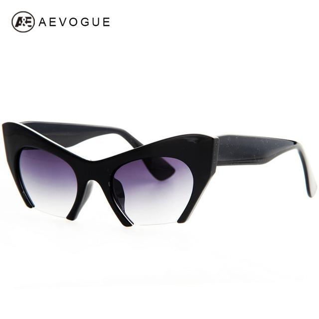 Aevogue бесплатная доставка ретро марка Cat Eye солнцезащитные очки женщины высокое качество очки классические солнцезащитные очки UV400 AE0184