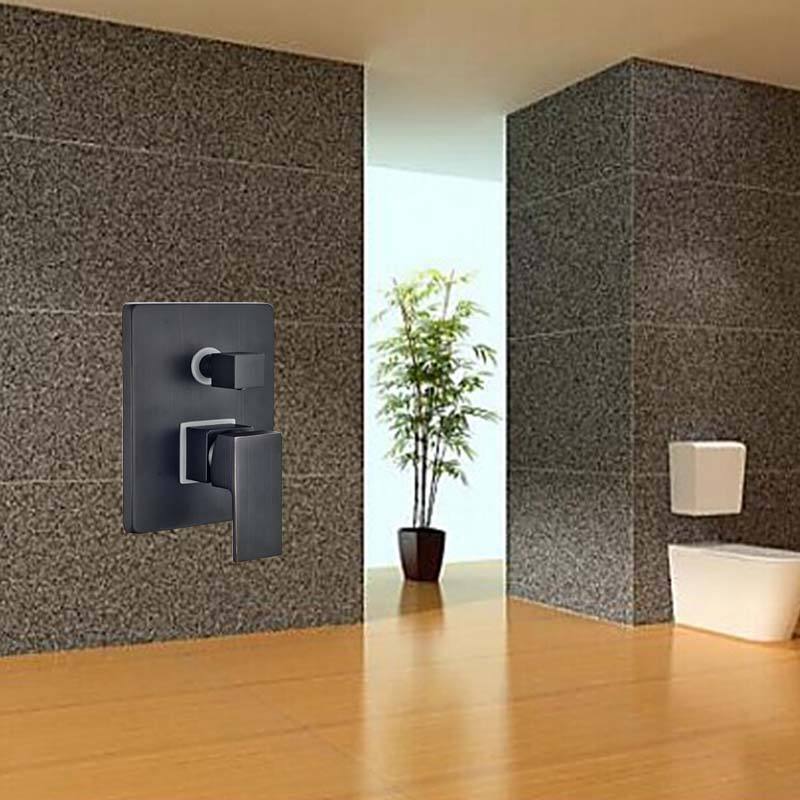Wholesale And Retail Luxury Modern Wall Mounted Shower Valve Single Handle Diverter Oil Rubbed Bronze 3 Ways Shower Mixer Valve<br><br>Aliexpress